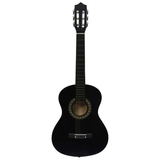 """shumee 8-dielna klasická gitarová sada pre začiatočníkov čierna 1/2 34"""""""