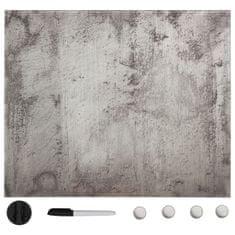 shumee Nástěnná magnetická tabule sklo 40 x 40 cm