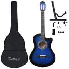 """shumee 12-dielna folková akustická gitara so 6 strunami modrá 38"""""""