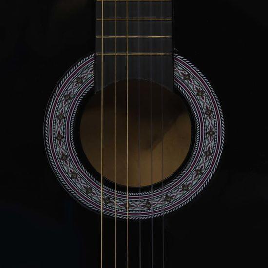 """shumee Klasična kitara za začetnike s torbo črna 3/4 36"""""""
