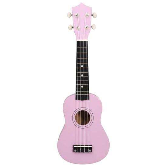 """shumee Sopránové ukulele s taškou pre deti ružové 21"""""""