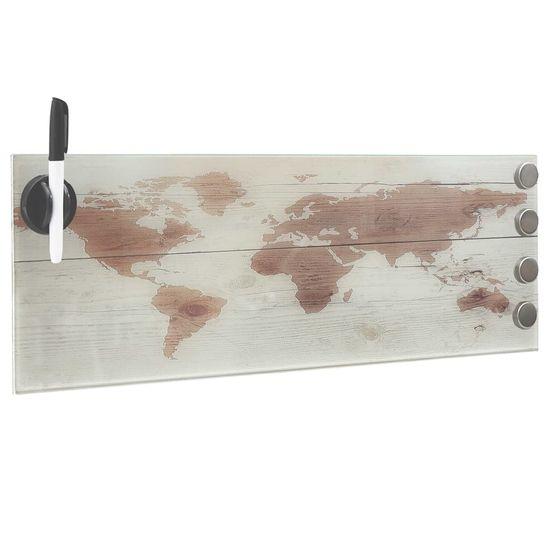 shumee Nástěnná magnetická tabule skleněná 60 x 20 cm