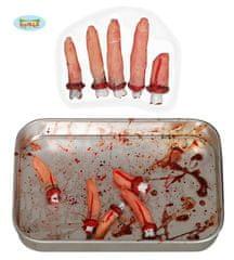 Krvavé amputované prsty - HALLOWEEN - sada 5 ks