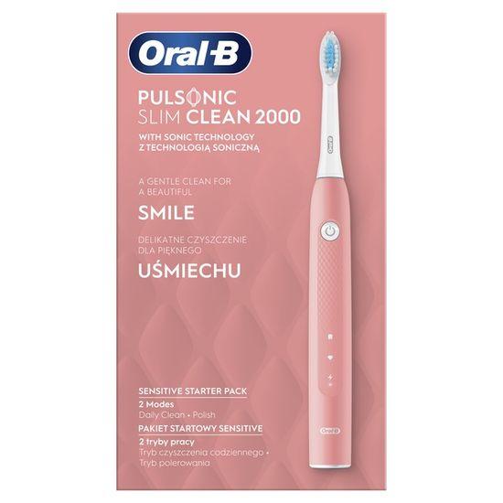 Oral-B Slim Clean 2000 Pink sonična električna zobna ščetka