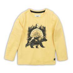 KokoNoko chlapčenské tričko - medveď žlté 110