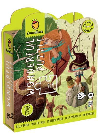 Ludattica Puzzle pro děti - Ludattica - V přírodě - 108 dílů