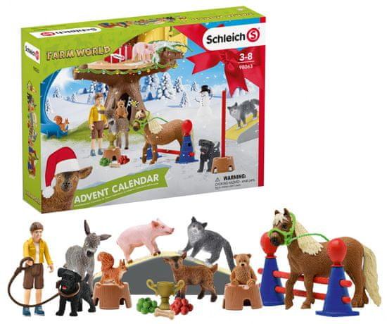 Schleich Adventný kalendár 2020 - Domáce zvieratá