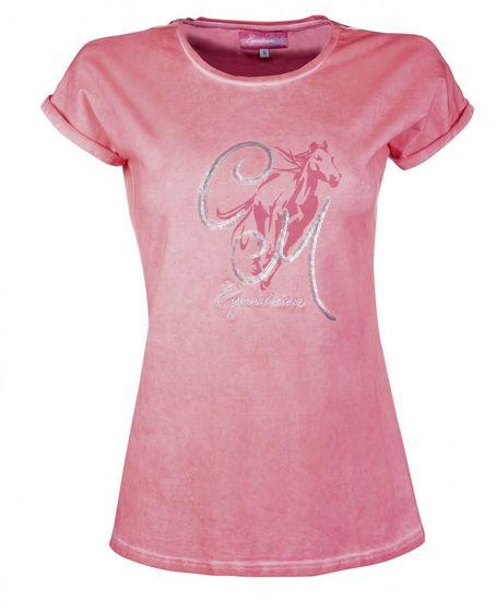 HKM Dámské tričko Rimini HKM růžová, Velikost XS