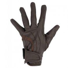 HKM Jezdecké rukavice Equestrian HKM | tmavě hnědá, Velikost XL