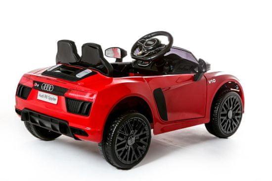 Beneo Elektrické autíčko Audi R8 small, 12V, 2,4 GHz dálkové ovládání, USB / SD Vstup, odpružení, 12V