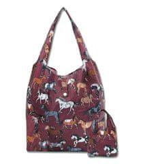 Waldhausen Skládací nákupní taška s koníky Waldhausen bordová