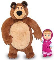 SIMBA Mása és a medve szett - Mísa plüss 25cm, Mása baba 12cm