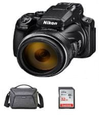 Nikon fotoaparat COOLPIX P1000 + SDHC kartica, 32GB + torba