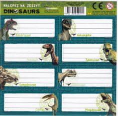 Derform Samolepky na sešity Dinosauři 8ks