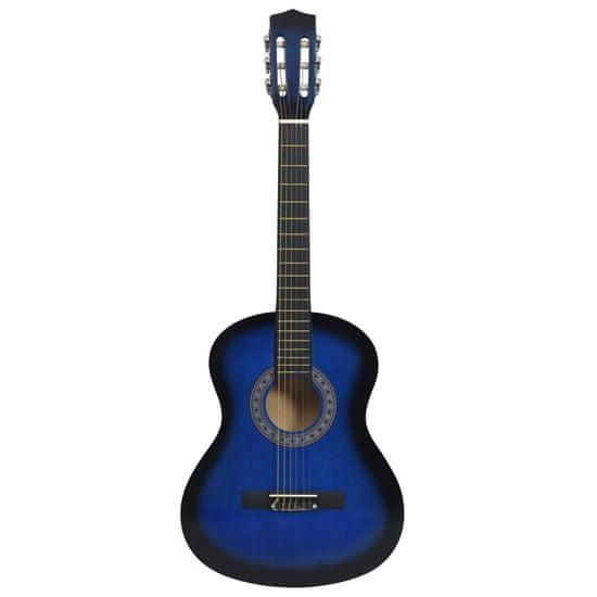 """shumee Klasična kitara za začetnike s torbo modra 3/4 36"""""""
