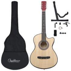 "shumee 12-dielna folková akustická gitara Cutaway so 6 strunami 38"""