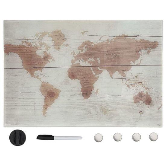 shumee Nástěnná magnetická tabule sklo 50 x 30 cm