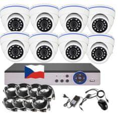Eonboom 8CH 5MPx AHD kamerový set CCTV 8D - DVR s LAN a 8x venkovní dome kamera