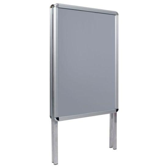 shumee A1 oglasno stojalo za posterje aluminij