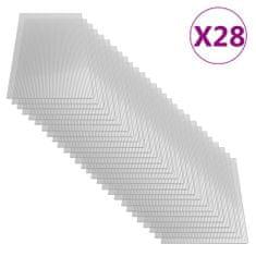 shumee Polikarbonatne plošče 28 kosov 4 mm 121x60 cm