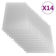 shumee Polikarbonatne plošče 14 kosov 4 mm 121x60 cm