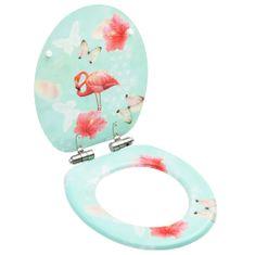 shumee Deska za WC školjko počasno zapiranje MDF dizajn flaminga