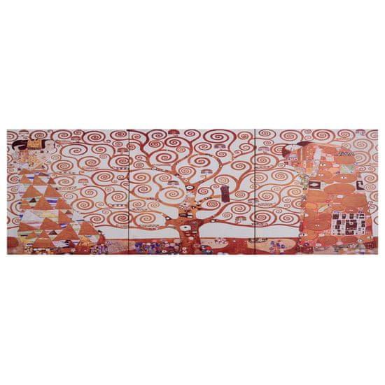 shumee Slika na platnu rumeno drevo 120x40 cm