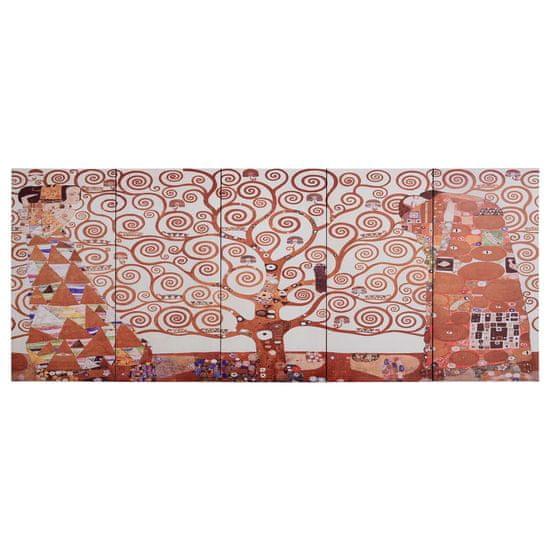 shumee Slika na platnu drevo rumena 150x60 cm