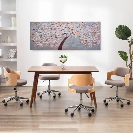 shumee Slika na platnu cvetoče drevo večbarvna 200x80 cm