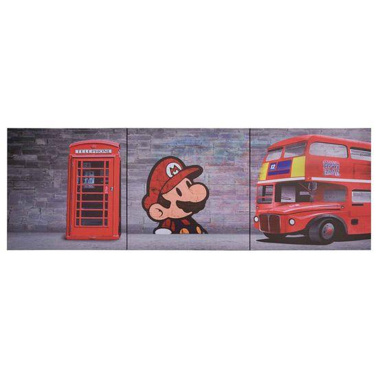 shumee Sada nástenných obrazov na plátne Londýn rôznofarebná 120x40 cm