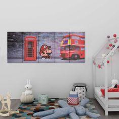 Greatstore Sada nástěnných obrazů na plátně Londýn barevná 150 x 60 cm