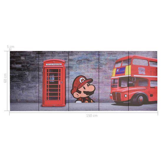 shumee Slika na platnu London večbarvna 150x60 cm