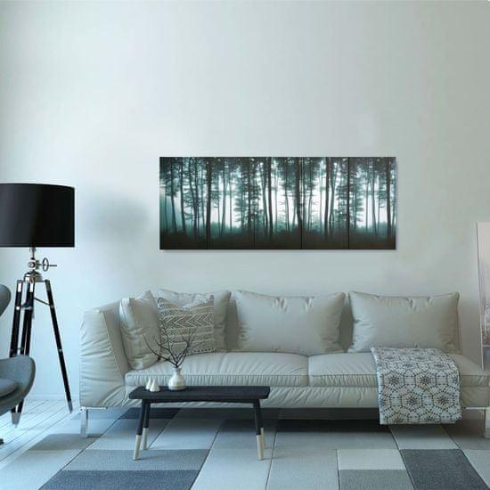 shumee Slika na platnu drevesa večbarvna 150x60 cm
