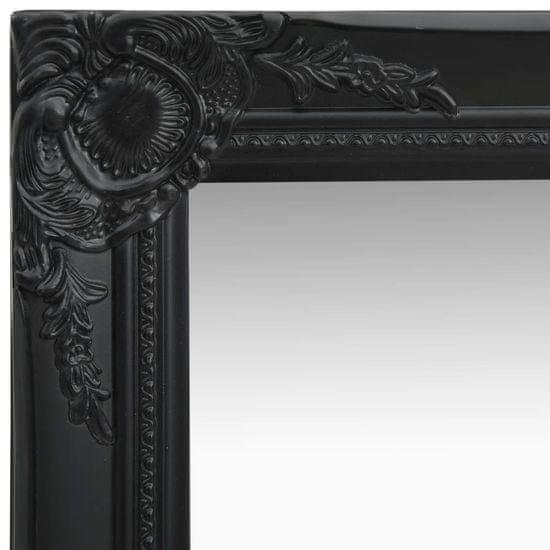 shumee fekete barokk stílusú fali tükör 60 x 60 cm