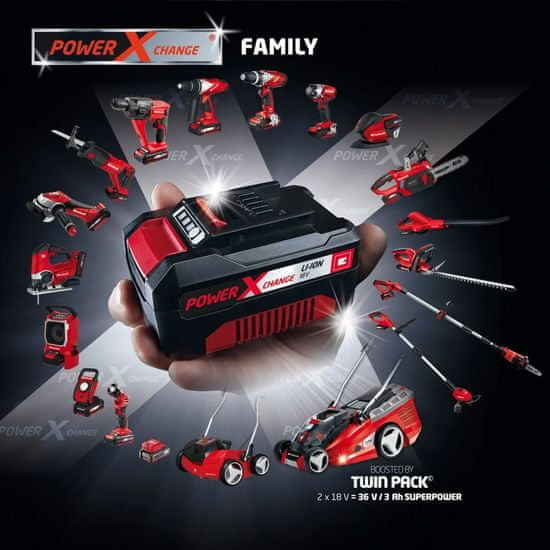 "shumee Einhell Komplet Akumulatorja in Polnilnika ""Power X-Change"" 18 V 4 Ah 4512042"