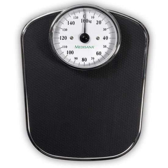 shumee Medisana PS 412 fekete retró stílusú fürdőszobai mérleg 160 kg