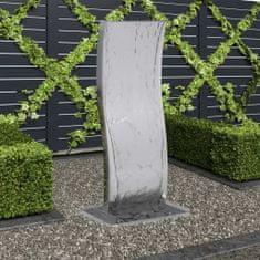 shumee Fontanna ogrodowa z pompą, stal nierdzewna, 90 cm, wygięta