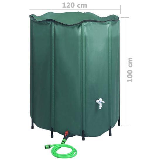shumee összecsukható esővízgyűjtő tartály csappal 1000 l