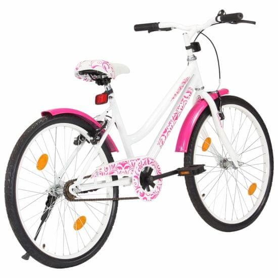 Petromila Detský bicykel ružovo-biely 24 palcový