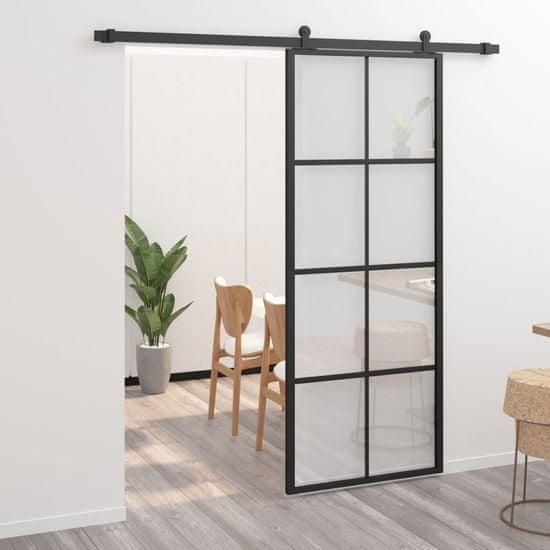 shumee Drzwi przesuwne, aluminium i szkło ESG, z osprzętem, 76x205 cm