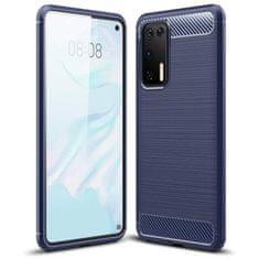 MG Carbon Case Flexible silikonski ovitek za Huawei P40, modra