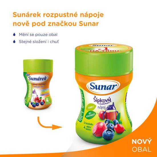 Sunar rozpustný nápoj šípkový s borůvkami 3x200g