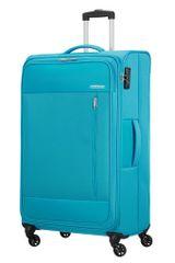 American Tourister Látkový cestovní kufr Heat Wave L 92 l světle modrá