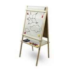 3ToysM Dětská magnetická tabule 3v1 přírodní