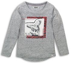 DJ-Dutchjeans dívčí triko Y.O.Y.O. 134 šedá