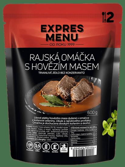 Expres Menu Rajská s hovězím masem 600g (2 porce)