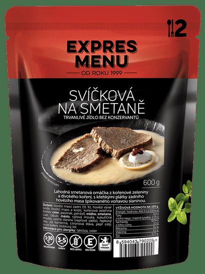 Expres Menu Svíčková na smetaně 600g (2 porce)
