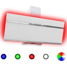 Greatstore RGB Nástenný digestor s LED 90 cm nehrdzavejúca oceľ a tvrdené sklo