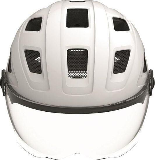 Abus Hyban+ cream white (clear visor) L