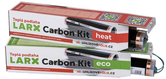 LARX Carbon Kit eco 180 W, vykurovacia fólia pre svojpomocnú inštaláciu, dĺžka 3,6 m, šírka 0,5 m